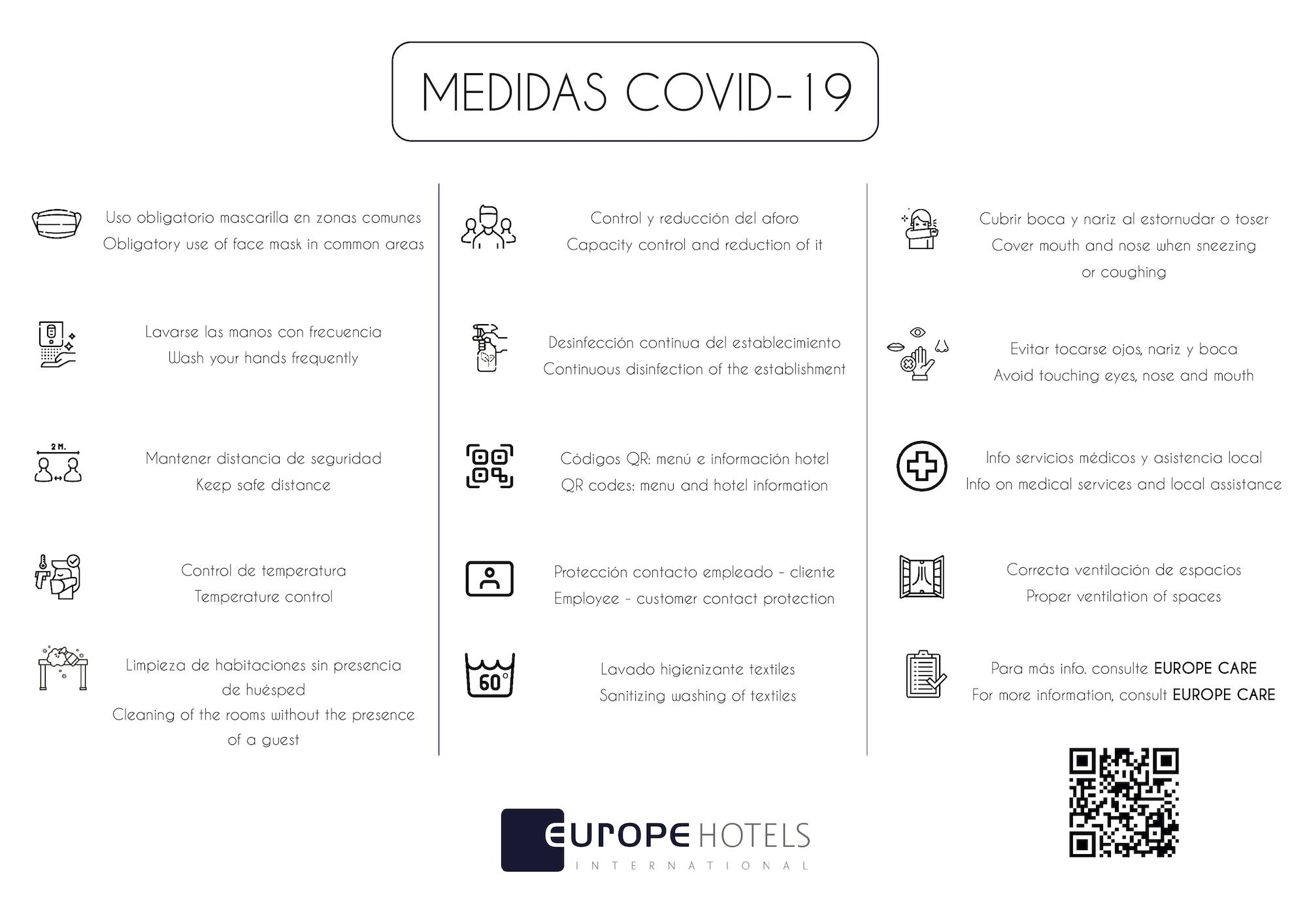 MEDIDAS COVID ESPAÑOL E INGLES